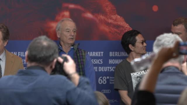 Bill Murray Greta Gerwig Bob Balaban Bryan Cranston Koyu Rankin Wes Anderson Liev Schreiber Jeff Goldblum Kunichi Nomura Andy Weisblum at 68th Berlin...