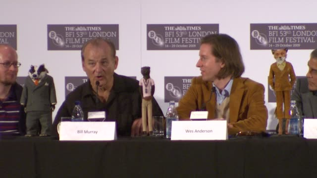 bill murray on a question about eastern european stopgap animation cinema being politically subversive was the question he was hoping for and wes... - dahl stock videos and b-roll footage