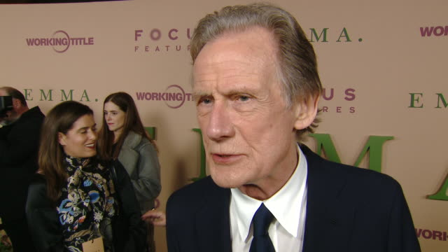 """vidéos et rushes de bill nighy at focus features presents """"emma."""" los angeles premiere at dga theater on february 18, 2020 in los angeles, california. - nbcuniversal"""