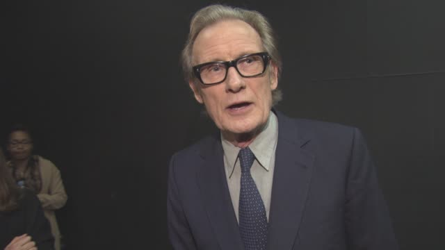 bill nighy on playing second chance characters now, his age, propaganda, brexit at 'their finest' - premiere at bfi southbank on april 12, 2017 in... - bfi southbank stock videos & royalty-free footage