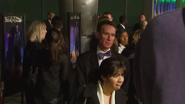 bill nye at the 'the astronaut farmer' premiere at the cinerama dome at arclight cinemas in hollywood california on february 20 2007 - the astronaut farmer stock videos and b-roll footage