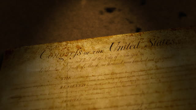 bill of rights, usa - constitution stock videos and b-roll footage