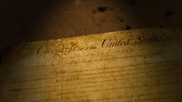 vidéos et rushes de bill de droits, états-unis - indépendance
