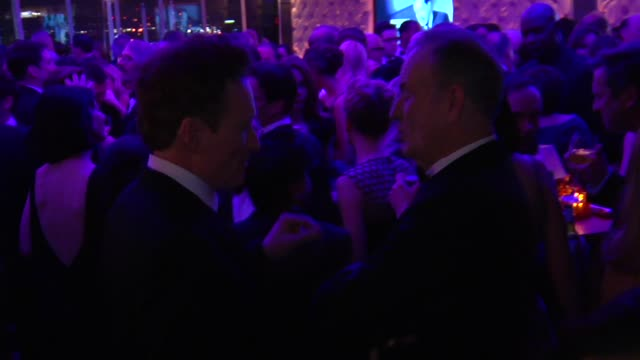 bill o'reilly and conan o'brien at the 2013 vanity fair oscar party hosted by graydon carter inside party footage bill o'reilly and conan o'brien at... - conan o'brien stock videos and b-roll footage