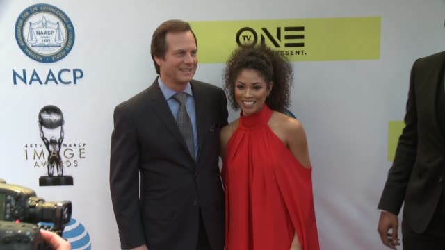 Bill Paxton and Lex Scott Davis at 48th NAACP Image Awards at Pasadena Civic Auditorium on February 11 2017 in Pasadena California