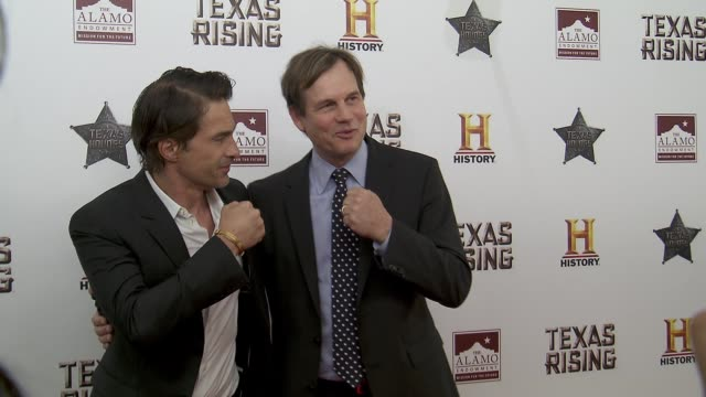 bill paxton and olivier martinez at history® celebrates epic new miniseries texas rising with red carpet texas honors event at the alamo on may 18... - bill paxton stock videos and b-roll footage