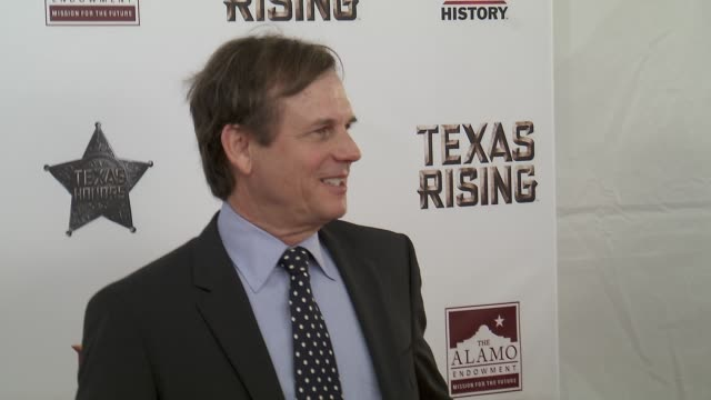 "bill paxton at history® celebrates epic new miniseries ""texas rising"" with red carpet ""texas honors"" event at the alamo on may 18, 2015 in san... - bill paxton stock videos & royalty-free footage"