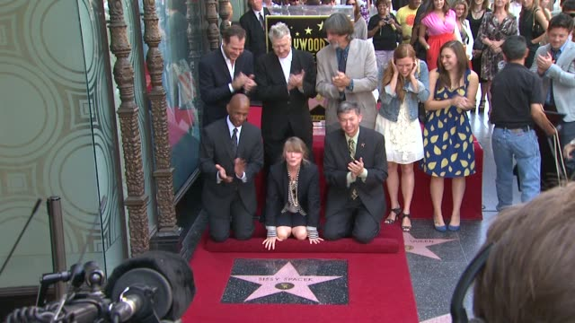 bill paxton david lynch sissy spacek and schuyler fisk at the sissy spacek to be honored with star on the hollywood walk of fame at hollywood ca - bill paxton stock videos and b-roll footage