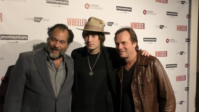 "bill paxton, james paxton & king orba at the premiere of momentum pictures' ""wheeler"" on january 30, 2017 in hollywood, california. - bill paxton stock videos & royalty-free footage"