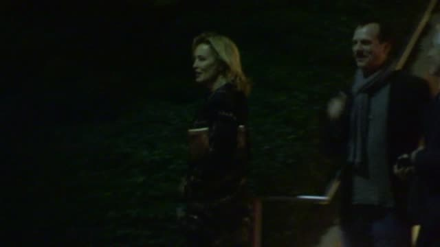 bill paxton jessica lange depart a private cocktail party in century city 01/12/13 - bill paxton stock videos and b-roll footage