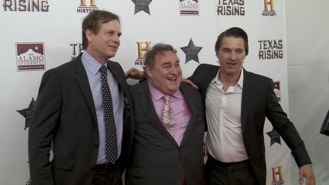 bill paxton olivier martinez and leslie greif at history® celebrates epic new miniseries texas rising with red carpet texas honors event at the alamo... - bill paxton stock videos and b-roll footage