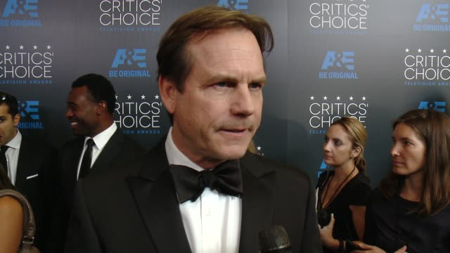 interview bill paxton on being at the event and on his current projects at the 2015 critics' choice television awards at the beverly hilton hotel on... - bill paxton stock videos and b-roll footage