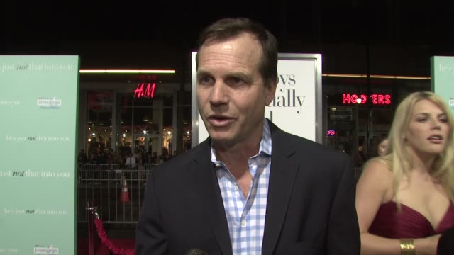 bill paxton on supporting ginnifer goodwin at the 'he's just not that into you' premiere at los angeles ca. - bill pullman stock videos & royalty-free footage