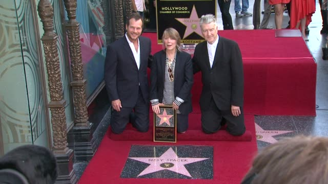 bill paxton sissy spacek and david lynch at the sissy spacek to be honored with star on the hollywood walk of fame at hollywood ca - bill paxton stock videos and b-roll footage