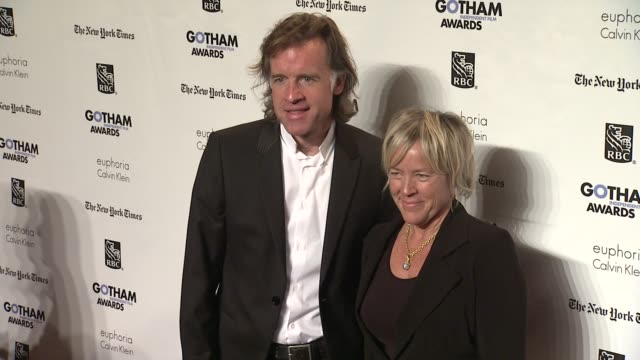 bill pohland and sarah green at the ifp's 21st annual gotham independent film awards red carpet at new york ny - independent feature project stock videos & royalty-free footage