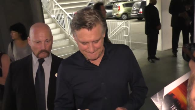 bill pullman arriving to the lbj premiere at arclight theatre in hollywood in celebrity sightings in los angeles, - bill pullman stock videos & royalty-free footage