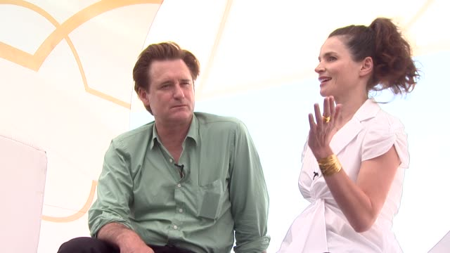 bill pullman, julia ormond at the surveillance interviews cannes at cannes . - bill pullman stock videos & royalty-free footage