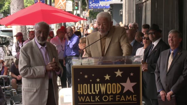 speech bill withers at clarence avant honored with star on the hollywood walk of fame on october 07 2016 in hollywood california - bill withers stock videos & royalty-free footage