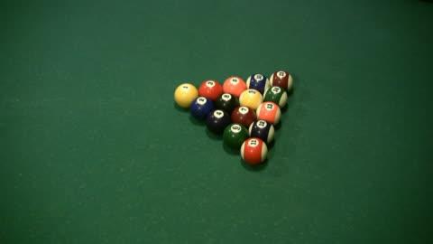hd :billard pushback - キューボール点の映像素材/bロール