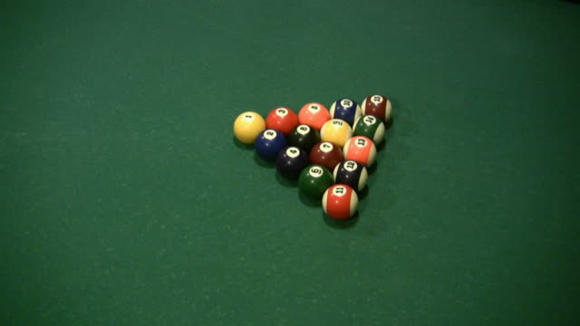 hd: billard pushback - number 4 stock videos & royalty-free footage
