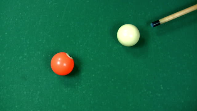 hd: billard pushback - cue ball stock videos & royalty-free footage
