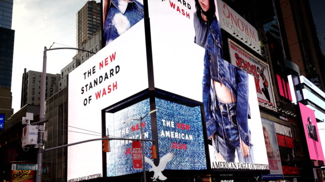 Billboard Advertisements, Times Square, New York City