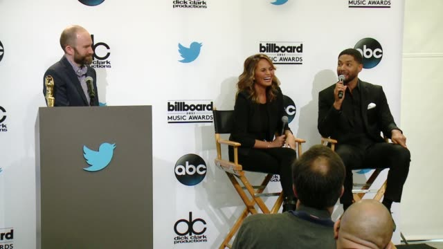 vídeos de stock, filmes e b-roll de billboard music awards finalist announcement press conference at twitter on april 07 2015 in santa monica california - finalist