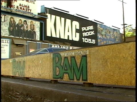 Billboard of KNAC Radio Station and BAM Magazine Graffiti in Los Angeles