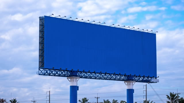 billboard on highway - tabellone video stock e b–roll