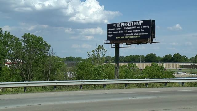 WXIN A billboard on the east side of Indianapolisvisible from the southbound lanes of I465 near the Washington Street exit on June 5 2017claims to...