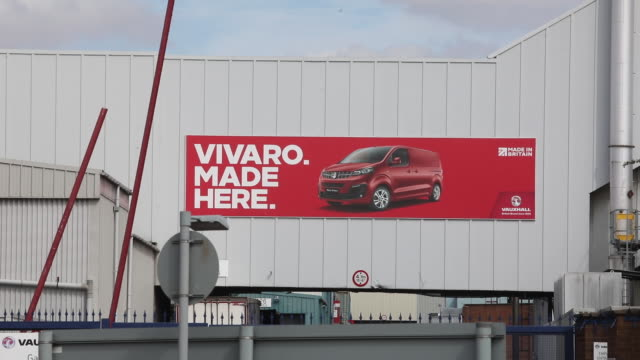 billboard on vauxhall factory wall general views of vauxhall motors ltd plant in luton bedfordshire united kingdom on wednesday september 2 2020 - english language stock videos & royalty-free footage