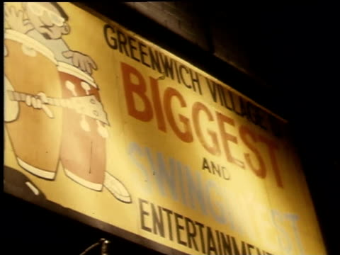 1968 WS Billboard reads Greenwich Village's Biggest and Swingingest Entertainment Cafe
