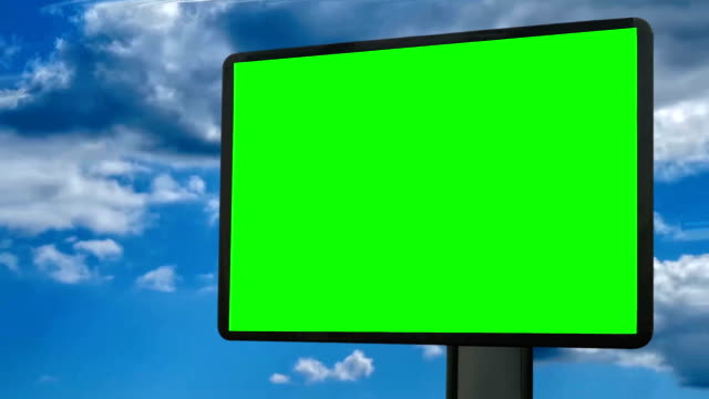 billboard with moving clouds (hd) - poster stock videos & royalty-free footage