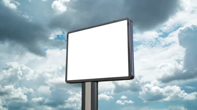 Billboard with moving clouds