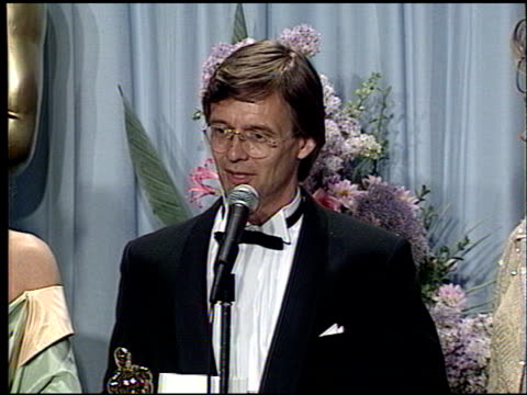 bille august at the 1989 academy awards at the shrine auditorium in los angeles, california on march 29, 1989. - 61st annual academy awards stock videos & royalty-free footage