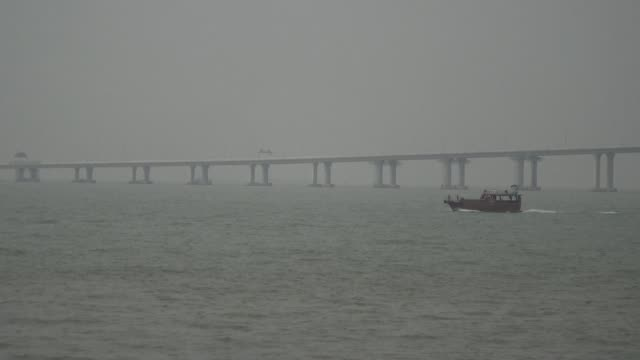 Billed as the world's longest sea bridge connecting Hong Kong Macau and mainland China it has been touted by supporters as an engineering wonder