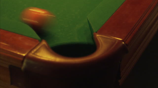billiard balls rolling into a pocket stockholm sweden. - pocket stock videos & royalty-free footage
