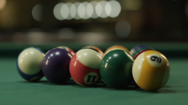 billiard balls - pool table stock videos & royalty-free footage