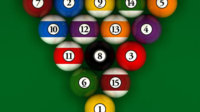 stockvideo's en b-roll-footage met billiard break, pool table - number 8