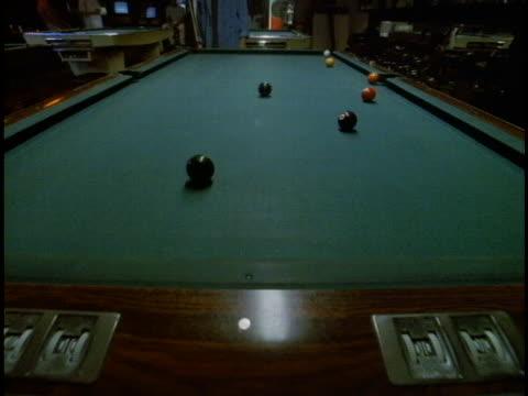a billiard player breaks a rack of balls. - breaking stock videos & royalty-free footage