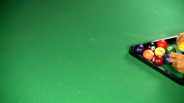billard - zahl 7 stock-videos und b-roll-filmmaterial