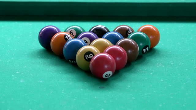 billiards - pool table stock videos & royalty-free footage
