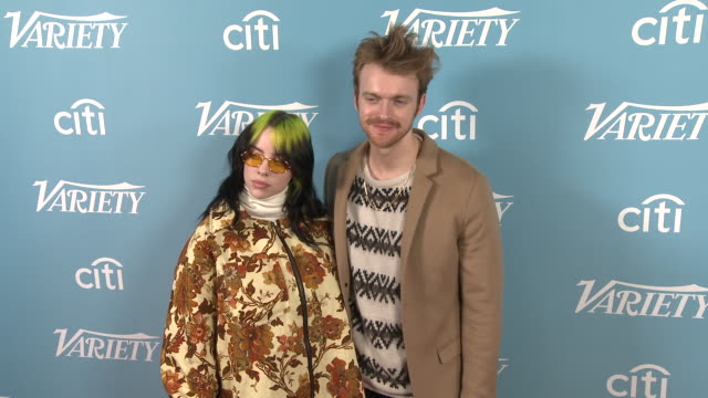 billie eilish and finneas at the variety's hitmakers brunch at soho house on december 07 2019 in west hollywood california - billie eilish stock videos & royalty-free footage
