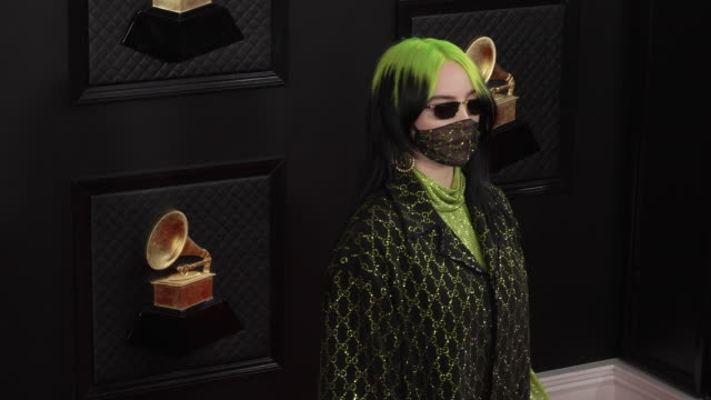 slomo billie eilish at staples center on january 26 2020 in los angeles california - grammys stock videos & royalty-free footage