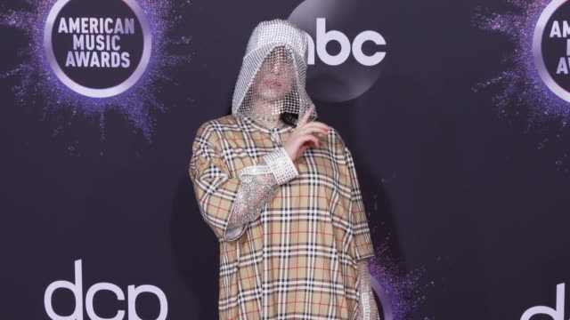 billie eilish at the 2019 american music awards at microsoft theater on november 24 2019 in los angeles california - billie eilish stock videos & royalty-free footage