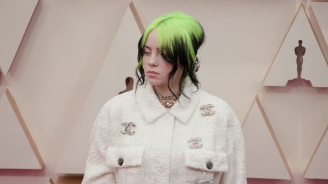 billie eilish at the 92nd annual academy awards at dolby theatre on february 09, 2020 in hollywood, california. - academy awards stock videos & royalty-free footage