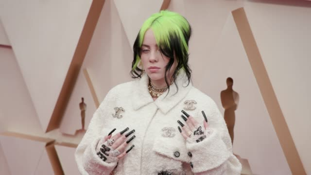 billie eilish at the 92nd annual academy awards at dolby theatre on february 09 2020 in hollywood california - billie eilish stock videos & royalty-free footage