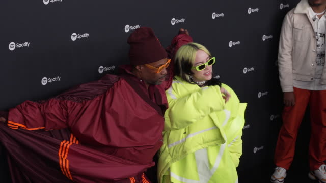 billie eilish billy porter at the lot studios on january 23 2020 in los angeles california - billie eilish stock videos & royalty-free footage