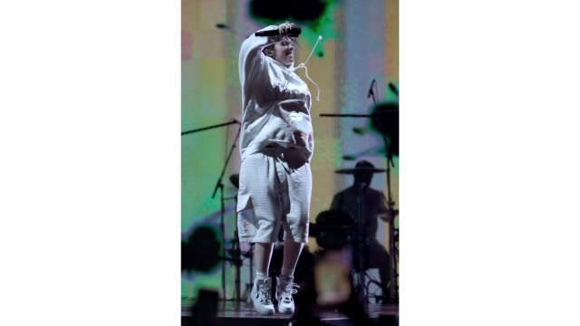 billie eilish performs at outdoor theatre during the 2019 coachella valley music and arts festival on april 13 2019 in indio california - billie eilish stock videos & royalty-free footage