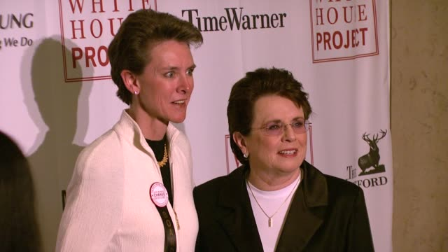 billie jean king and guest at the white house project honors billie jean king, at 2007 epic awards at the american museum of natural history in new... - ビリー・ジーン・キング点の映像素材/bロール